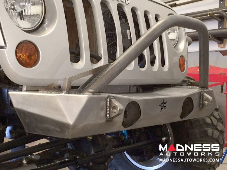 Jeep Wrangler JK by Crawler Conceptz - Ultra Series JK Front Bumper with Bar