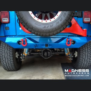 Jeep Wrangler JK by Crawler Conceptz - Ultra Series Mid Width JK Rear Bumper with Tabs and Tire Carrier