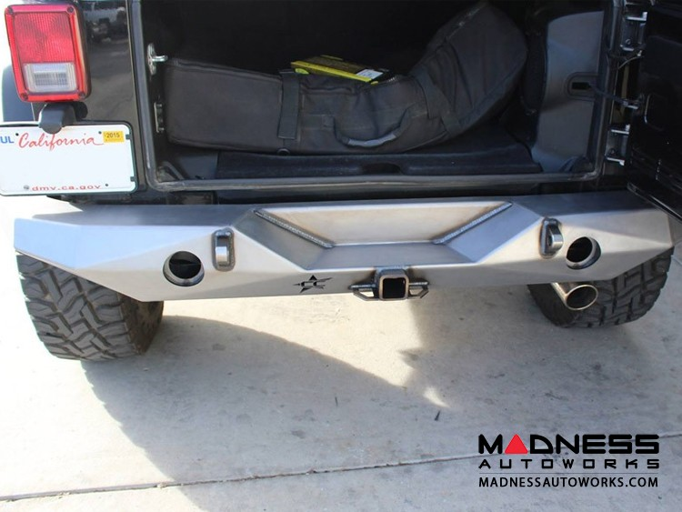 Jeep Wrangler JK by Crawler Conceptz - Ultra Series Full Width Rear Bumper With Tabs