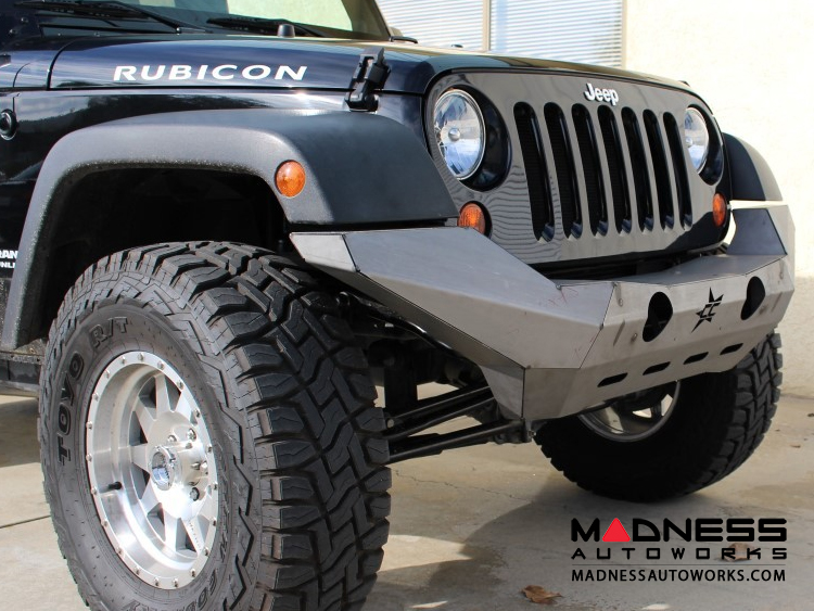 Jeep Wrangler JK By Crawler Conceptz   Ultra Series Full Width JK Front  Bumper With Tabs