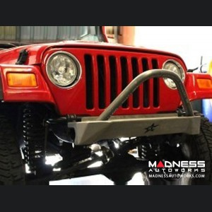 Jeep Wrangler TJ and LJ by Crawler Conceptz - Skinny Series Front Bumper w/ Bar and Tabs