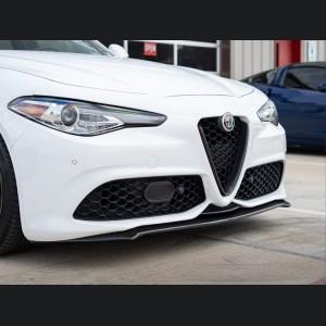 Alfa Romeo Giulia Front Spoiler - Italia Style - 100% Carbon Fiber - Gloss Finish - V2