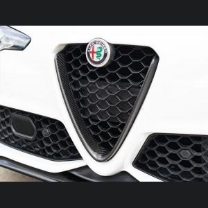 Alfa Romeo Giulia Front V Shield Grill Frame - Carbon Fiber