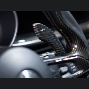 Alfa Romeo Stelvio Carbon Fiber Paddle Shifter Covers