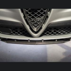 Alfa Romeo Stelvio Carbon Fiber Front Splitter - Quadrifoglio