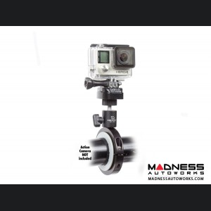 Jeep Wrangler JL Pro Mount Action Camera Mount - Black