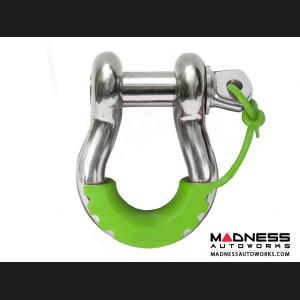 Jeep Wrangler JL Locking D-Ring Isolator - Fluorescent Green