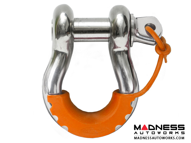 Jeep Wrangler JL Locking D-Ring Isolator - Fluorescent Orange