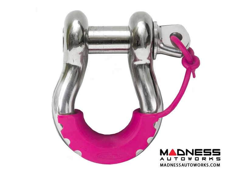 Jeep Wrangler JL Locking D-Ring Isolator - Fluorescent Pink