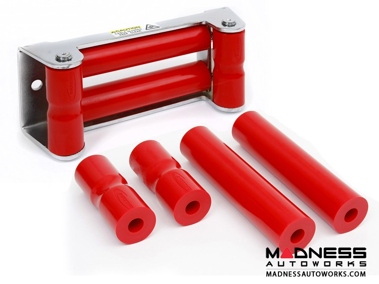 Jeep Wrangler JL Rope Rollers for Synthetic Winch Rope - Red