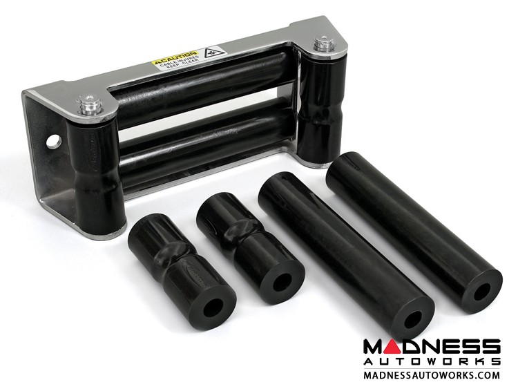 Jeep Wrangler JL Rope Rollers for Synthetic Winch Rope - Black