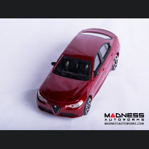 Alfa Romeo Giulia Die Cast Model - 1:43 Scale - Red - Streets of Fire Series