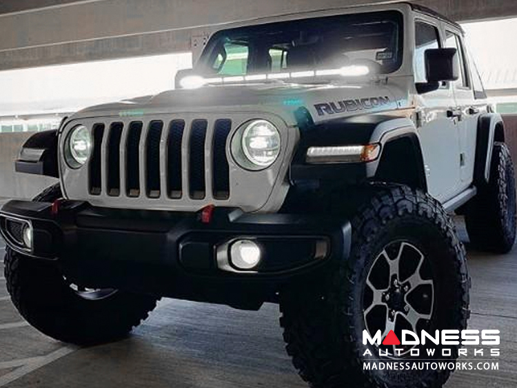 "Jeep Wrangler JL LED Light Bar w/ Bracket - 50"" - White Flood"