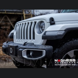 "Jeep Wrangler JL LED Light Bar w/ Bracket - 50"" - Amber Flood"