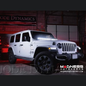 "Jeep Wrangler JL LED Light Bar w/ Bracket - 50"" - White Combo"