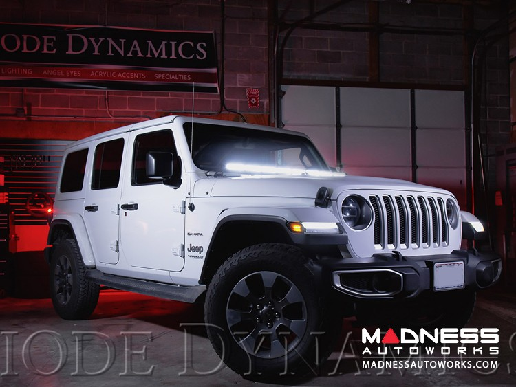 "Jeep Wrangler JL LED Light Bar w/ Bracket - 50"" - Amber Driving"