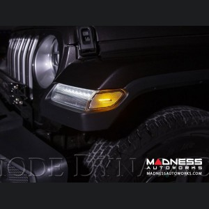 Jeep Wrangler JL LED Sidemarkers - Pair - Amber