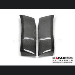 Dodge Challenger Hellcat Widebody / Demon Carbon Fiber Fender Flare Extensions - Rear