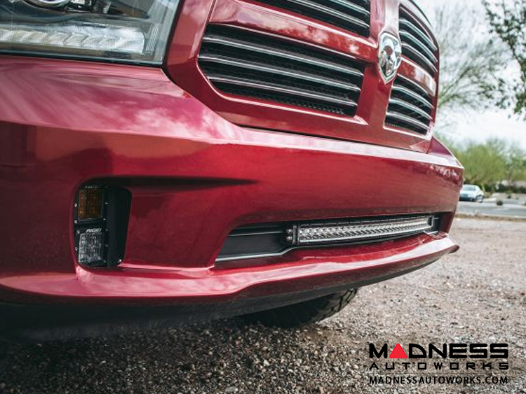Dodge Ram 1500 LED Light Bar Bumper Mount - SR - Series - 30""