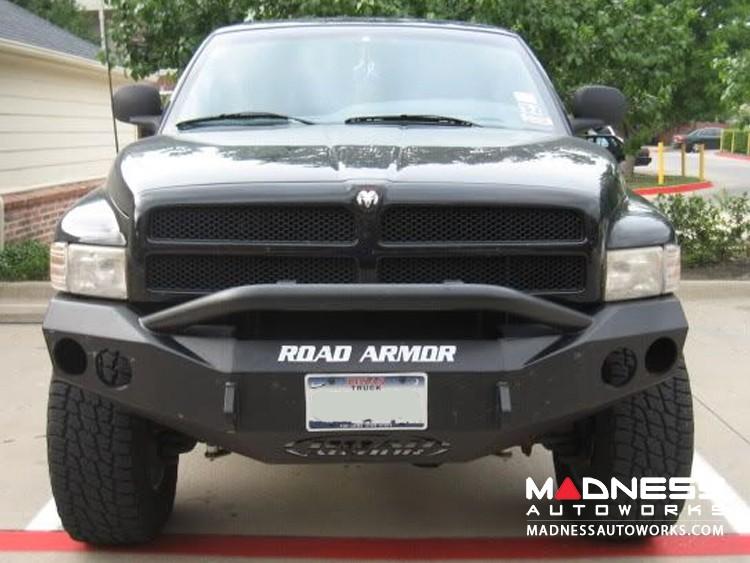 Dodge Ram 1500 Stealth Front Winch Bumper Pre-Runner Guard - Smittybilt XRC - Texture Black WARN M12000