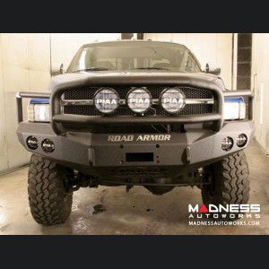 Dodge Ram 1500 Front Winch Bumper Lonestar Guard - Smittybilt XRC - Raw Steel WARN M12000