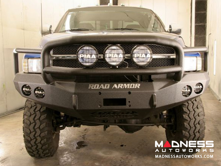 Dodge Ram 1500 Front Winch Bumper Lonestar Guard - Smittybilt XRC - Raw Steel WARN M12000