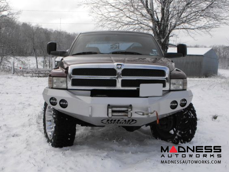 Dodge Ram 1500 Stealth Front Winch Bumper - Smittybilt XRC - Raw Steel WARN M12000