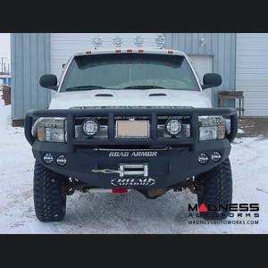 Dodge Ram Stealth Front Winch Bumper Titan II Guard - Smittybilt XRC - Raw Steel WARN M12000