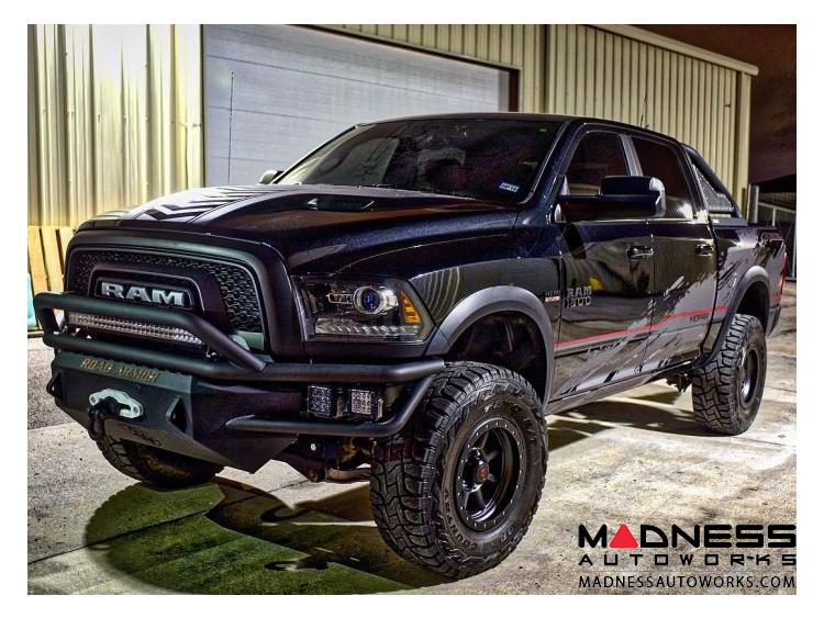Ram 1500 Bumper >> Dodge Ram 1500 Winch Bumper Pre Runner Guard Satin Black Road Armor Front