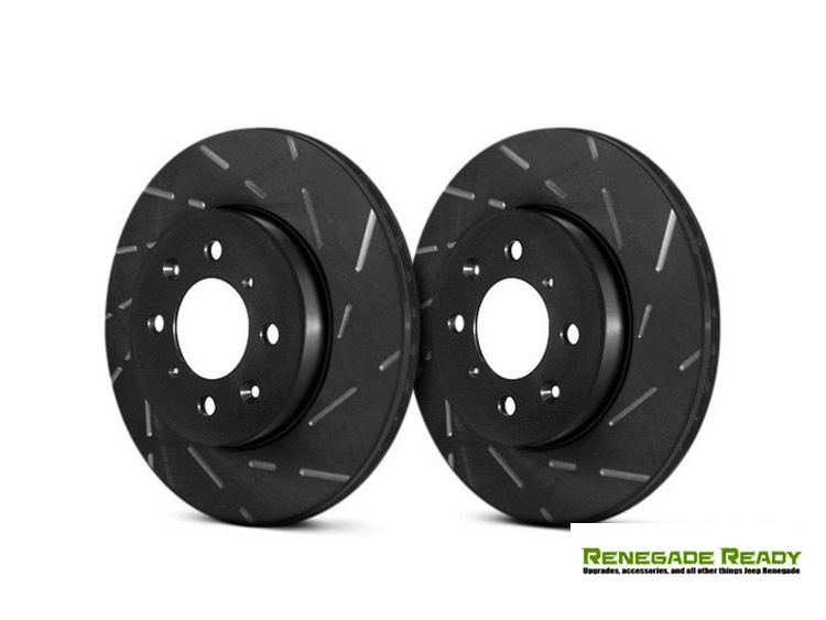Jeep Compass Brake Rotors - EBC - Rear - Slotted