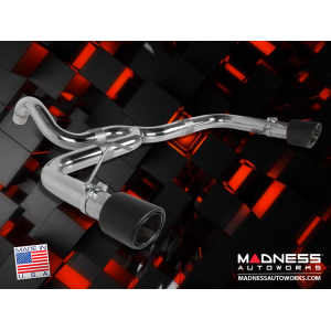 FIAT 500 Performance Exhaust by MADNESS - 1.4L Turbo - Axle Back - Dual Exit - Carbon Fiber Tips