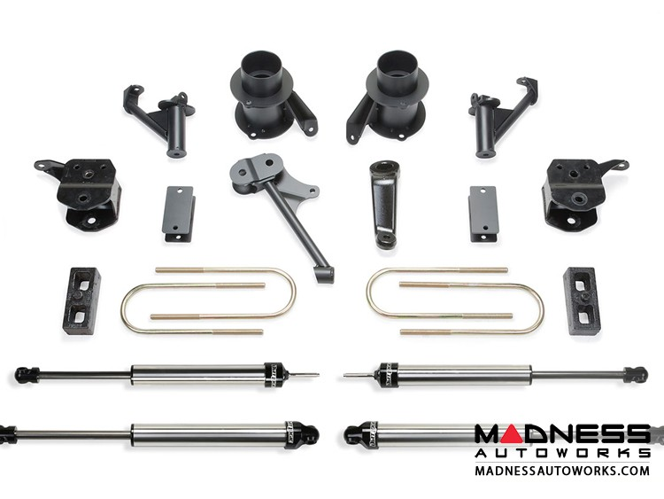 """Dodge Ram 3500 5"""" Basic System w/ Coil Spacers & Dirt Logic 2.25 Shocks by Fabtech (2013 - 2017) 4WD"""
