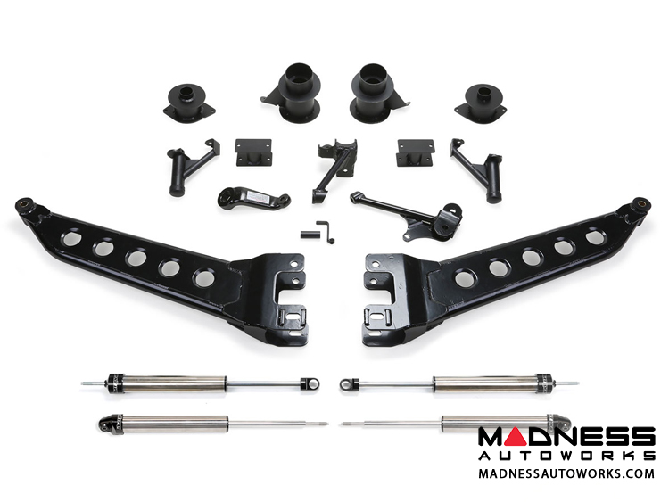 "Dodge Ram 2500 5"" Radius Arm System w/ Coil Spacers & Dirt Logic 2.25 Shocks by Fabtech (2014 - 2017) 4WD"