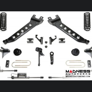 """Dodge Ram 3500 7"""" Radius Arm System w/ Coil Springs & Dual Dirt Logic Resi and Non Resi 2.25 Shocks by Fabtech (2013 - 2017) 4WD"""