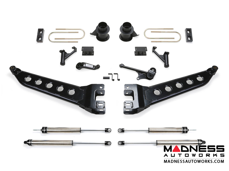 "Dodge Ram 3500 5"" Radius Arm System w/ Coil Spacers & Dirt Logic 2.25 Shocks by Fabtech (2013 - 2017) 4WD"