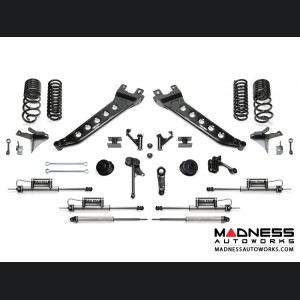 "Dodge Ram 2500 5"" Radius Arm System w/ Dual Dirt Logic Resi and Non Resi 2.25 Shocks by Fabtech (2014 - 2017) 4WD"