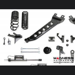 "Dodge Ram 2500 7"" Radius Arm System w/ Dual Dirt Logic Resi and Non Resi 2.25 Shocks by Fabtech (2014 - 2017) 4WD"