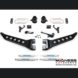 "Dodge Ram 3500 5"" Radius Arm System w/ Coil Spacers & Performance Shocks by Fabtech (2013 - 2017) 4WD"