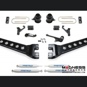 """Dodge Ram 3500 5"""" Radius Arm System w/ Coil Spacers & Performance Shocks by Fabtech (2013 - 2017) 4WD"""
