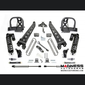"Ford F 250/ 350 4"" Radius Arm System w/ Dirt Logic 4.0 Resi Front Coilovers and Rear 2.25 Shocks by Fabtech (2011 - 2016) 4WD"