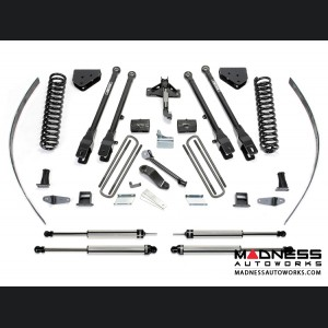 "Ford F 250 8"" 4 Link ADD-A-Leaf System w/ Dirt Logic Shocks by Fabtech (2008 - 2016) 4WD w/ Factory Overload"
