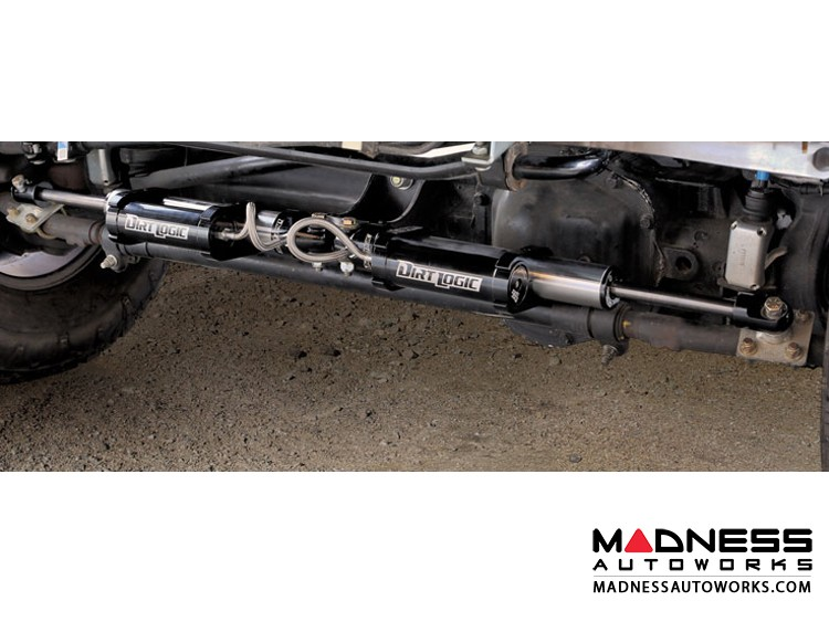 Ford F 250/ 350 Steering Stabilizer System w/ Dual Dirt Logic SS 2.25 Resi Dampeners by Fabtech (2005 - 2017) 4WD