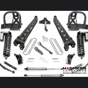 """Ford F 250/ 350 8"""" Radius Arm System w/ Dirt Logic 4.0 Resi Front Coilovers and Rear 2.25 Shocks by Fabtech (2011 - 2016) 4WD"""