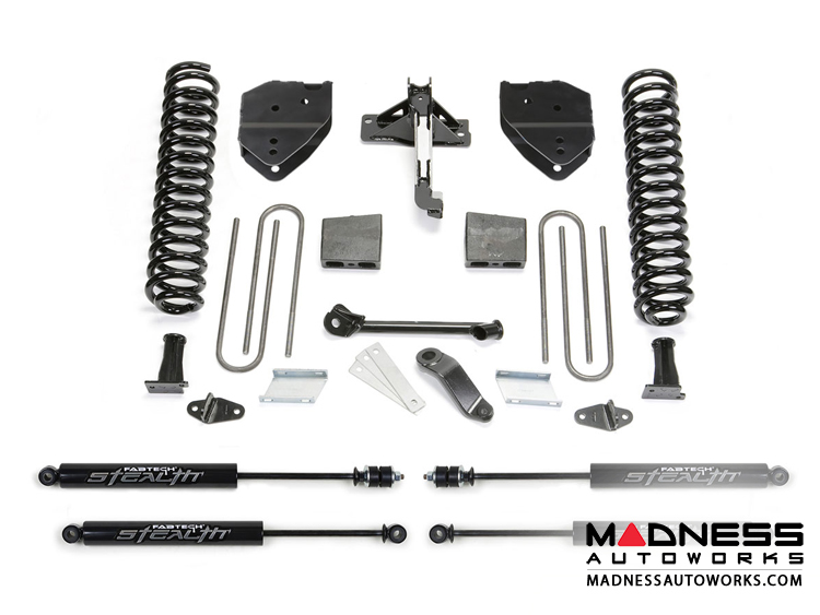 "Ford F 250/ 350 6"" Basic System w/ Stealth Shocks by Fabtech (2017) 4WD"