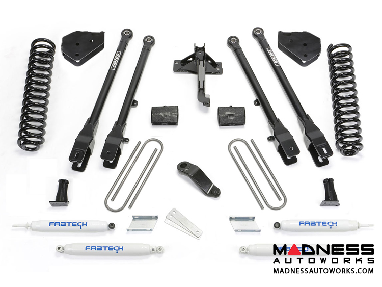 "Ford F 250/ 350 6"" 4 Link System w/ Performance Shocks by Fabtech (2017) 4WD"