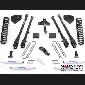 """Ford F 250/ 350 4"""" 4 Link System w/ Performance Shocks by Fabtech (2017) 4WD"""