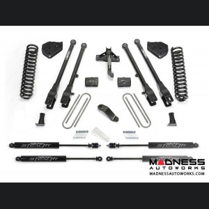 "Ford F 250/ 350 4"" 4 Link System w/ Stealth Shocks by Fabtech (2017) 4WD"