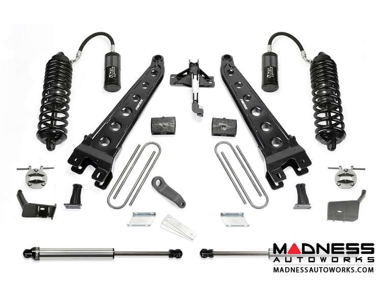 """Ford F 250/ 350 6"""" Radius Arm System w/ Dirt Logic 4.0 Resi Front Coilovers and Rear 2.25 Shocks by Fabtech (2017) 4WD"""