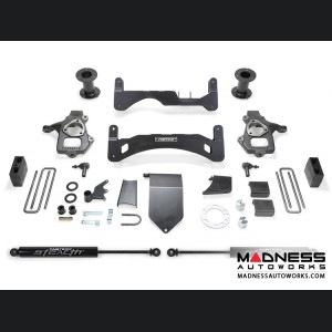 "GMC Sierra 1500 6"" Basic System w/ Stealth Shocks by Fabtech - 2WD/ 4WD (2014 - 2017) Gen II"