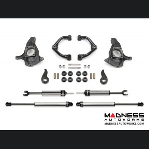 "GMC Sierra 2500/ 3500 4"" Uniball UCA System w/ Dirt Logic 2.25 Shocks by Fabtech - 2WD/ 4WD (2011 - 2017)"